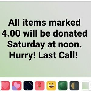 Last call for 4.00 items by Saturday am 9/26